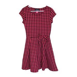 Children's Place Pink & Black Houndstooth Dress-M